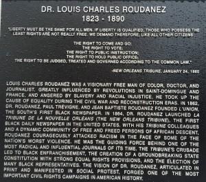 Louis Charles Roudanez grave marker