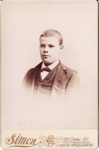 Joseph Benjamin Clement Roudanez, circa 1885, New Orleans.