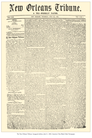 The New Orleans Tribune inaugual issue, 1864