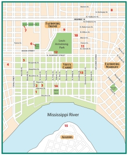 Roudanez Map of New Orleans Tribune History