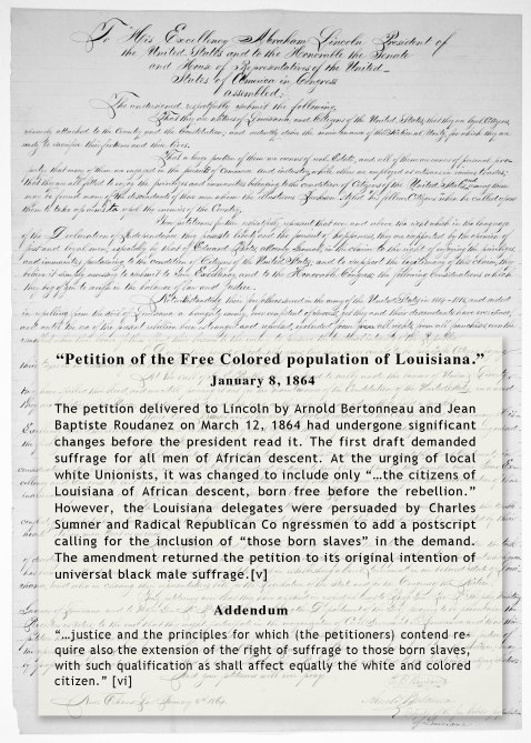 Petition of the Free Colored Population of Louisiana